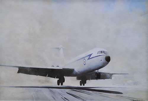 VC10 lift-off El-Adem aviation David Shepherd print
