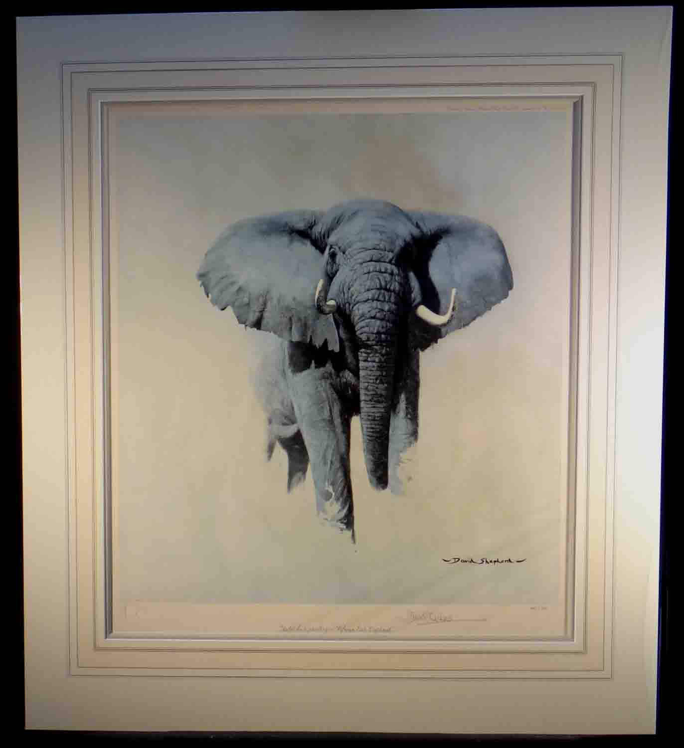 david shepherd signed limited edition print African bull elephant