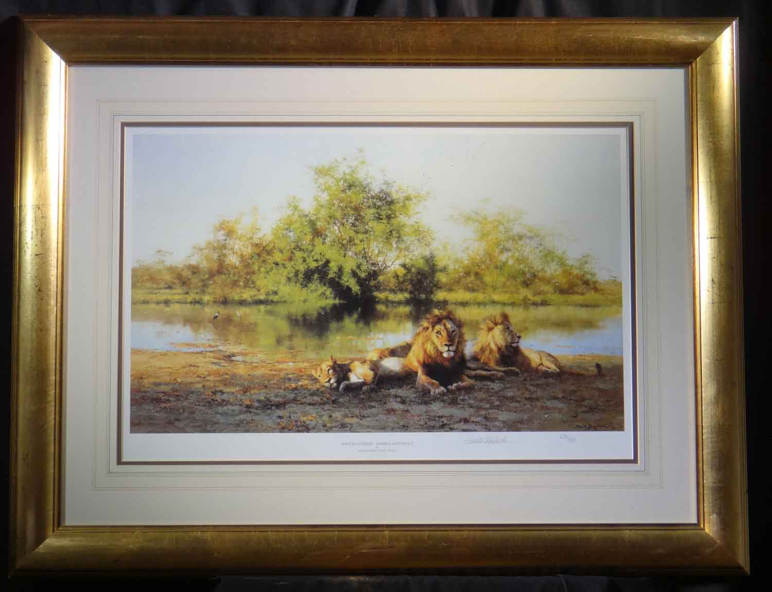david shepherd  african evening Zambezi waterhole
