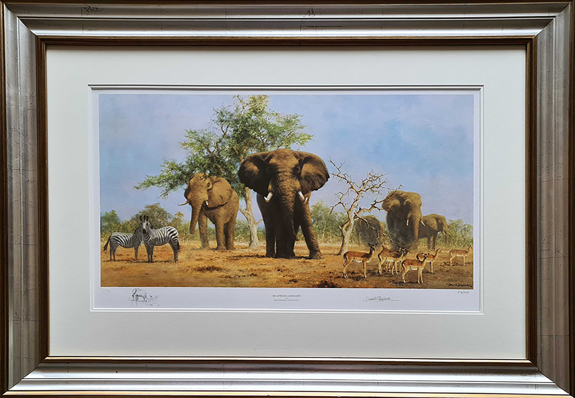 David shepherd signed limited edition prints african for Framed photos for sale