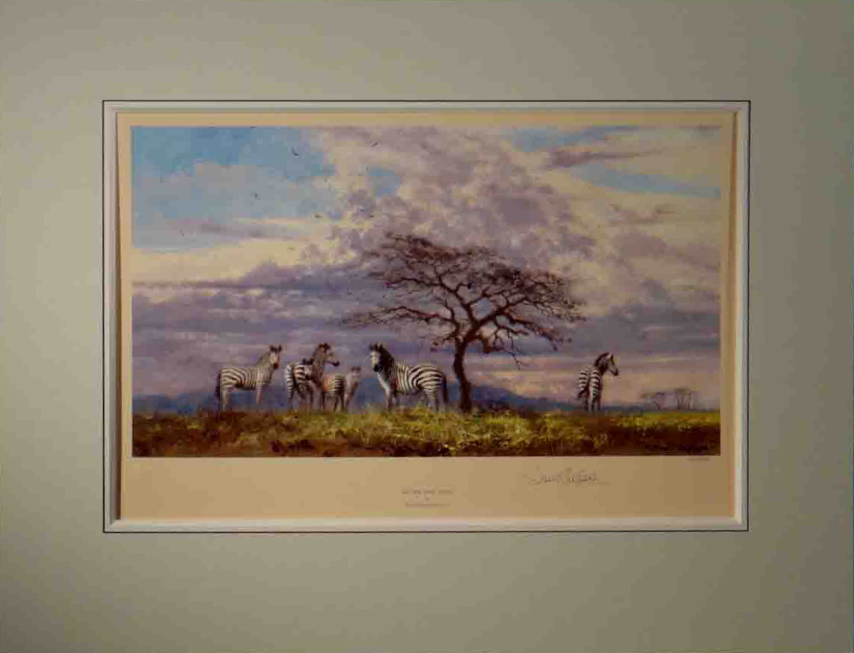 david shepherd, after the rain, signed limited edition print