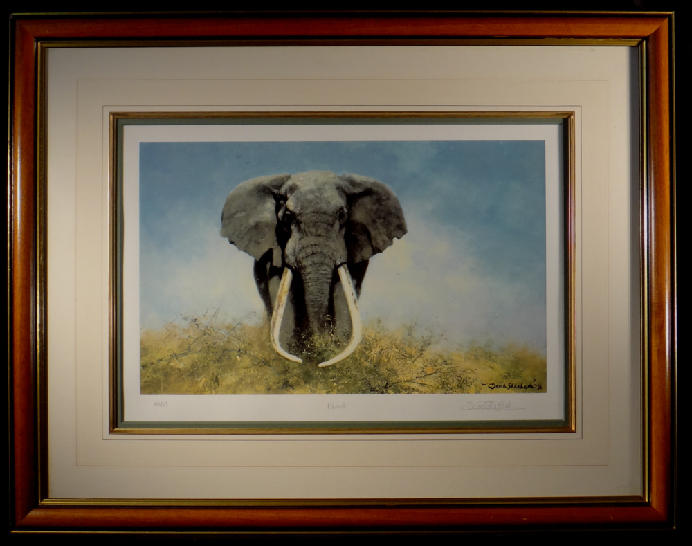 david shepherd signed limited edition print ahmed