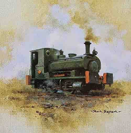 david shepherd, andrew barclay, steam train