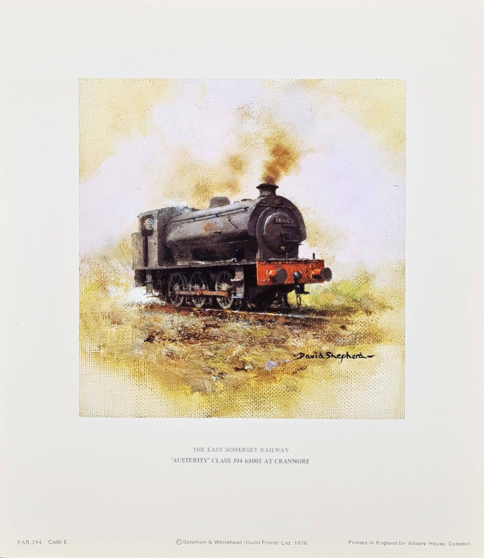 david shepherd austerity, Trains