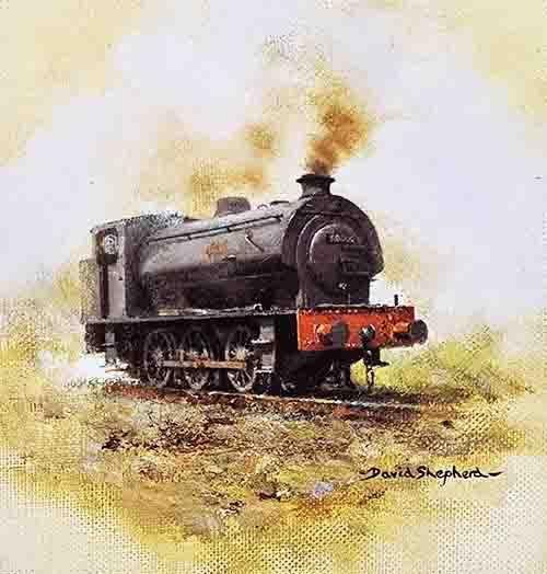 david shepherd, austerity, steam train
