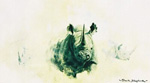 david shepherd,black rhino, print