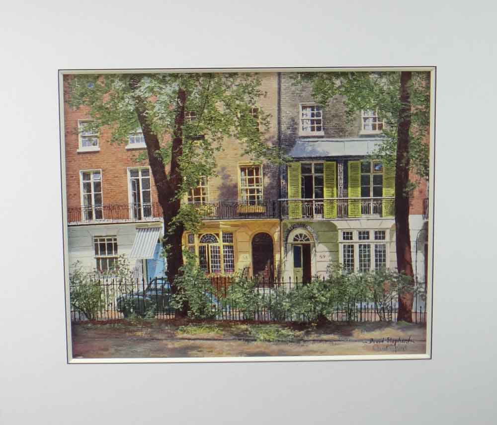 David Shepherd brompton square, london print mounted