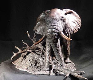 david shepherd bronze sculpture elephant