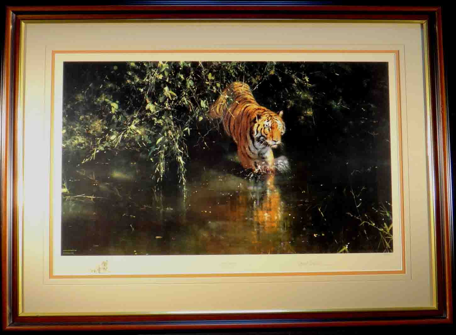 david shepherd, burning bright, tiger, signed limited edition print