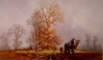 david shepherd Captain and Sergeant the first furrows of Autumn,print