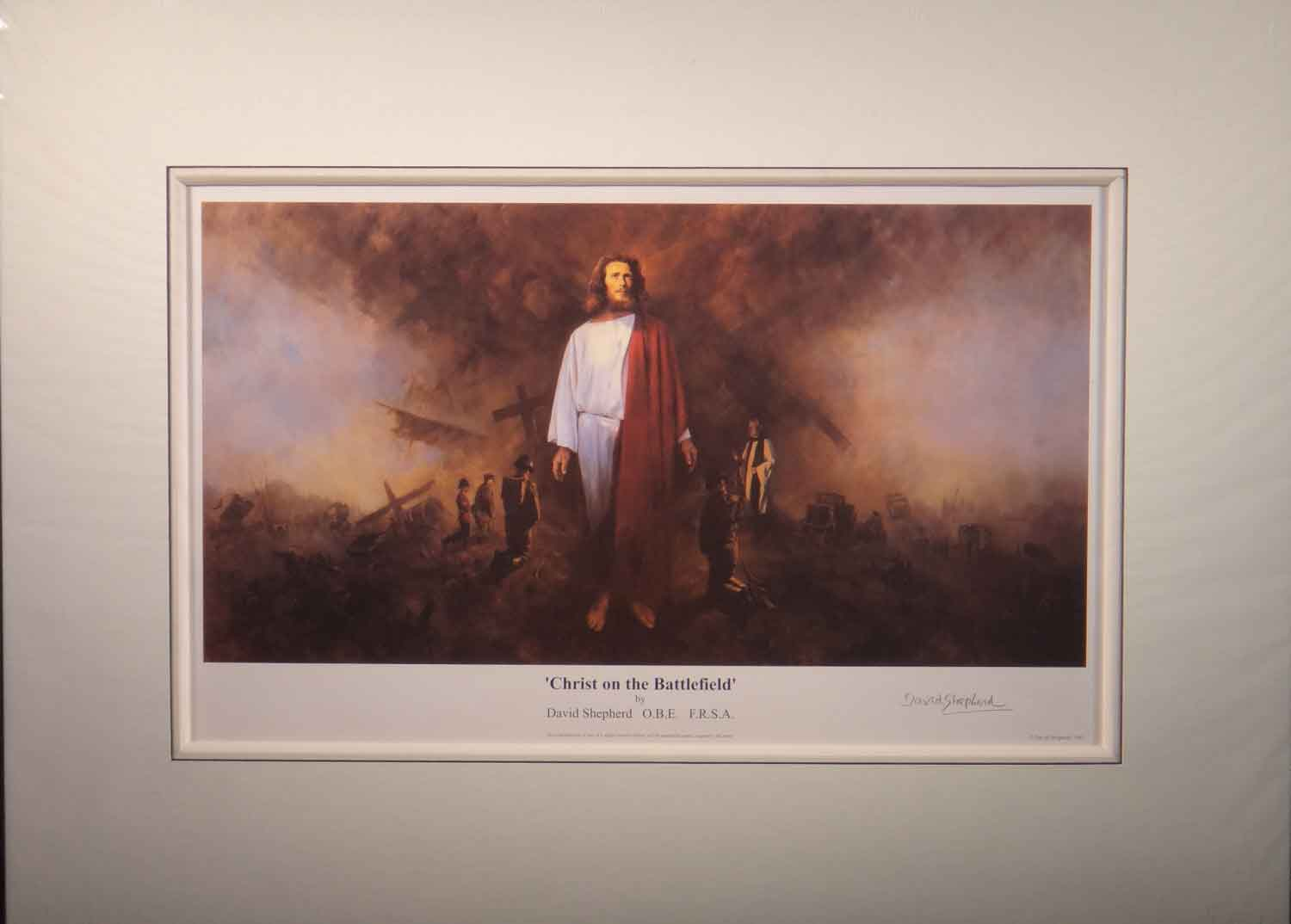 david shepherd, limimited edition print, Christ in the Battlefield