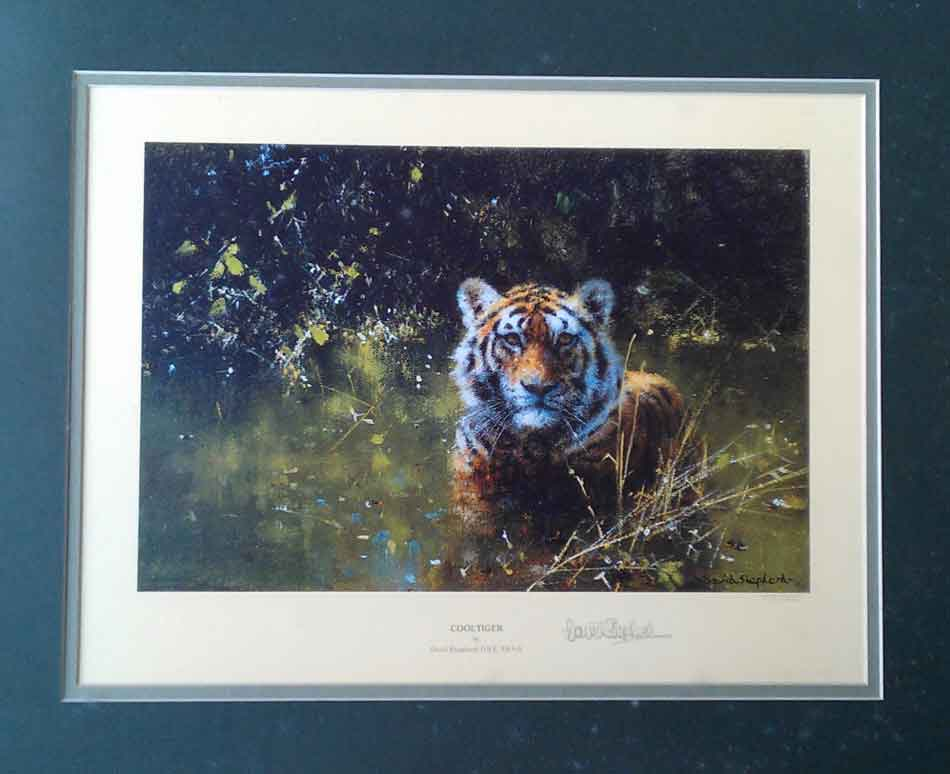 david shepherd Cool Tiger print