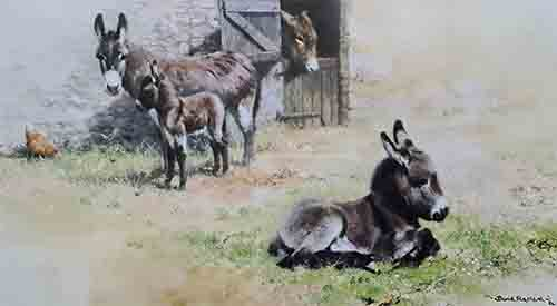david shepherd, Donkeys, prints