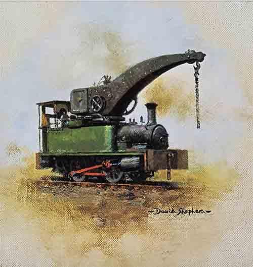 david shepherd, dubscrane, steam train