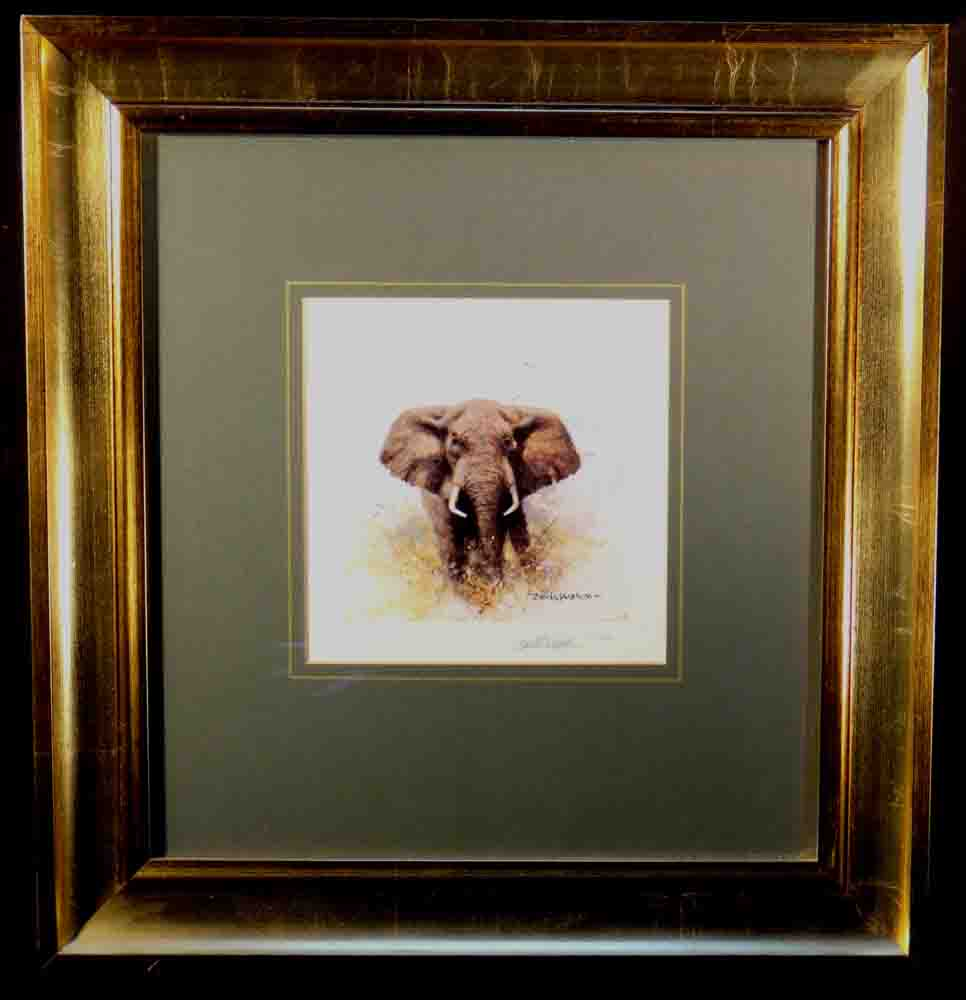 david shepherd elephant cameo signed print