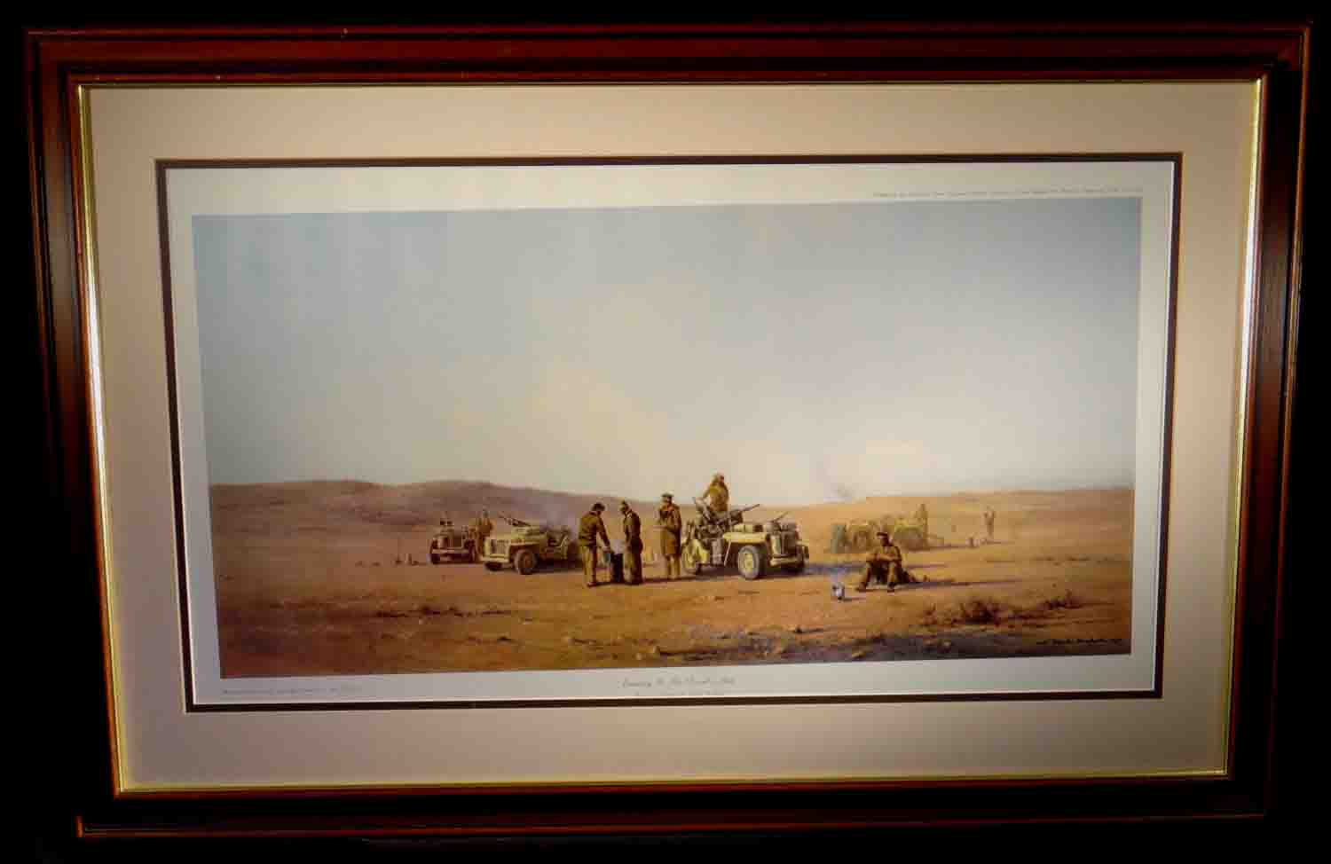 david shepherd, limimited edition pront, Evening in the Desert