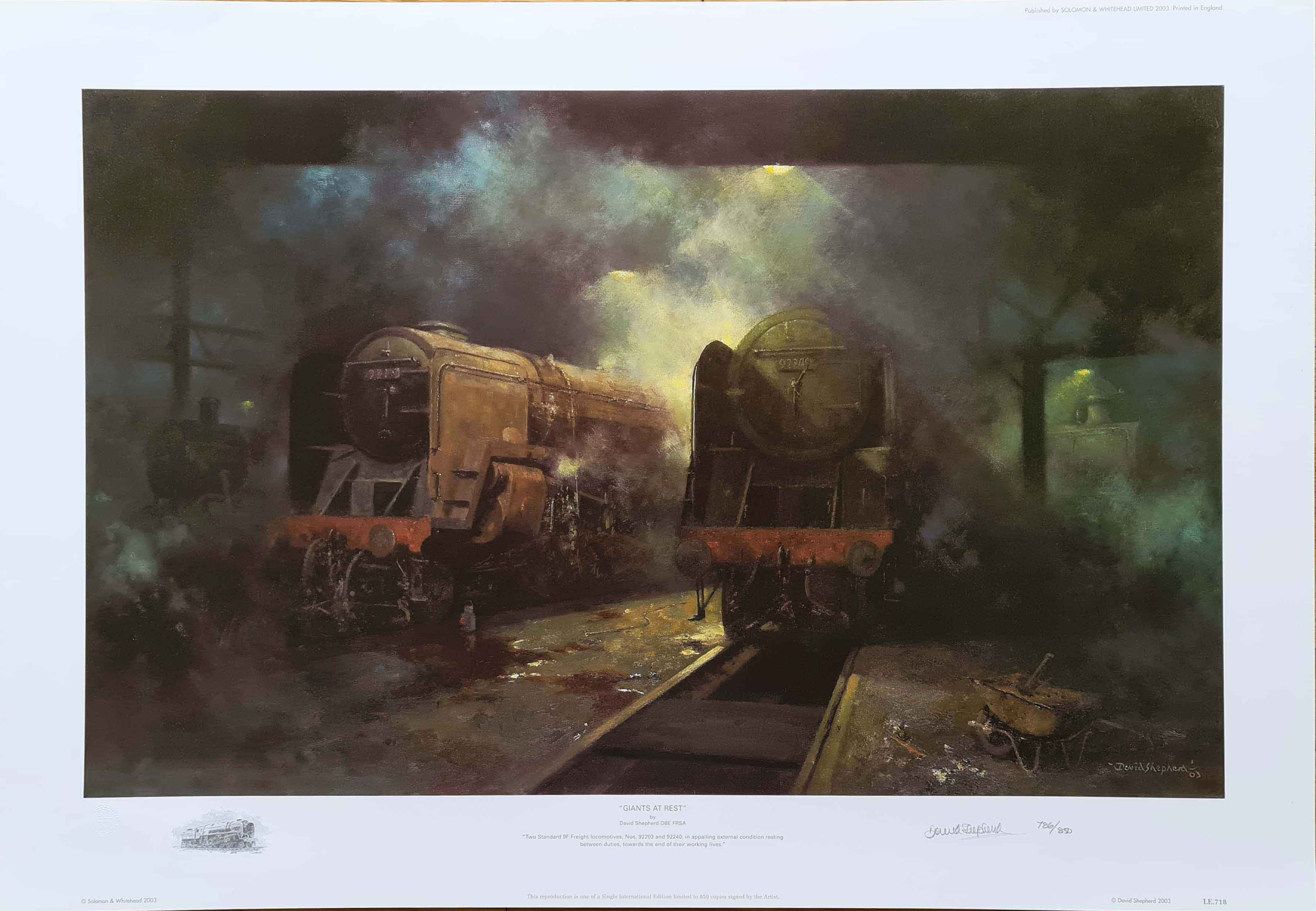 david shepherd Giants at Rest, Trains