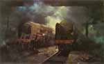 david shepherd, giants at rest, steam trains