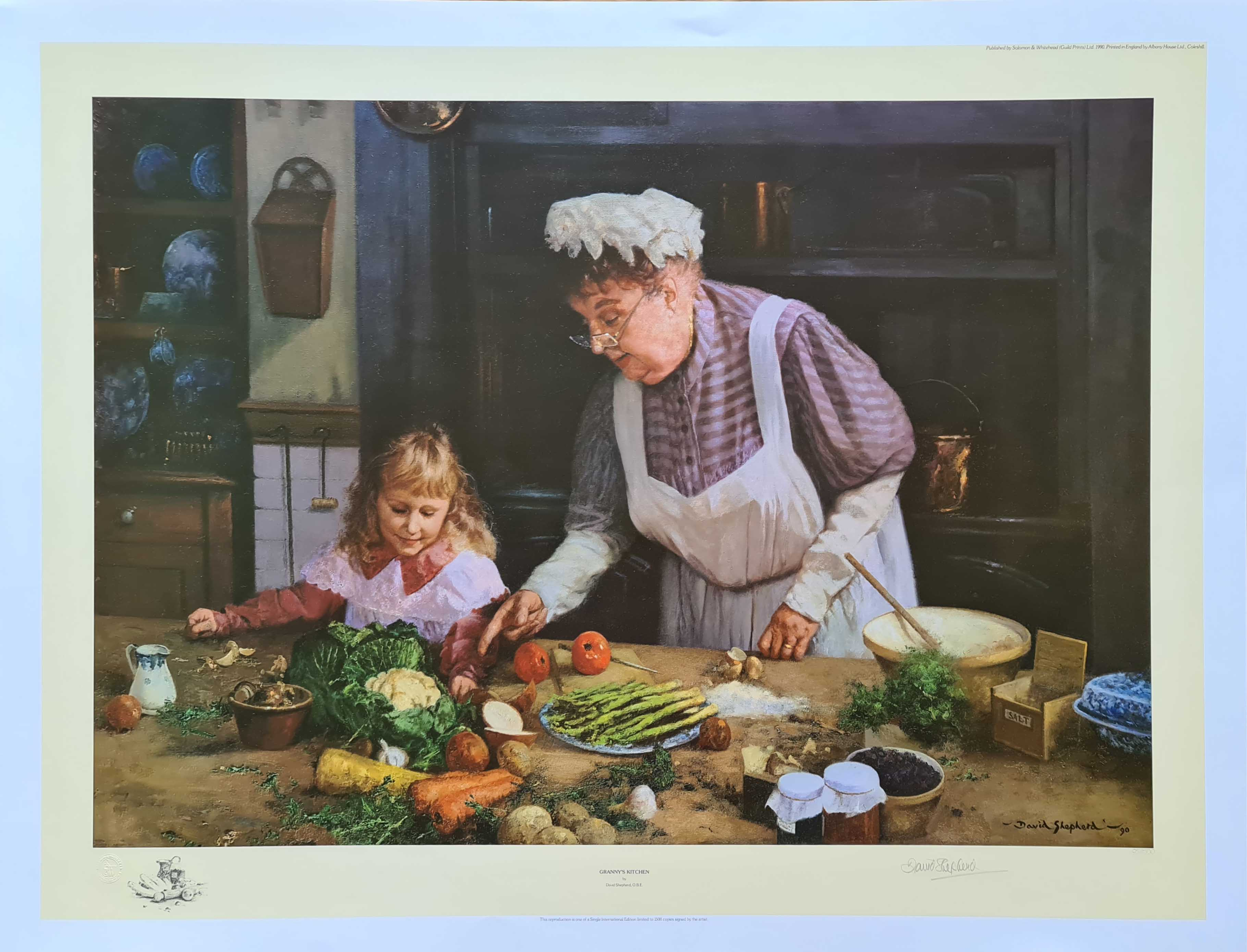 david shepherd grannie's kitchen signed print