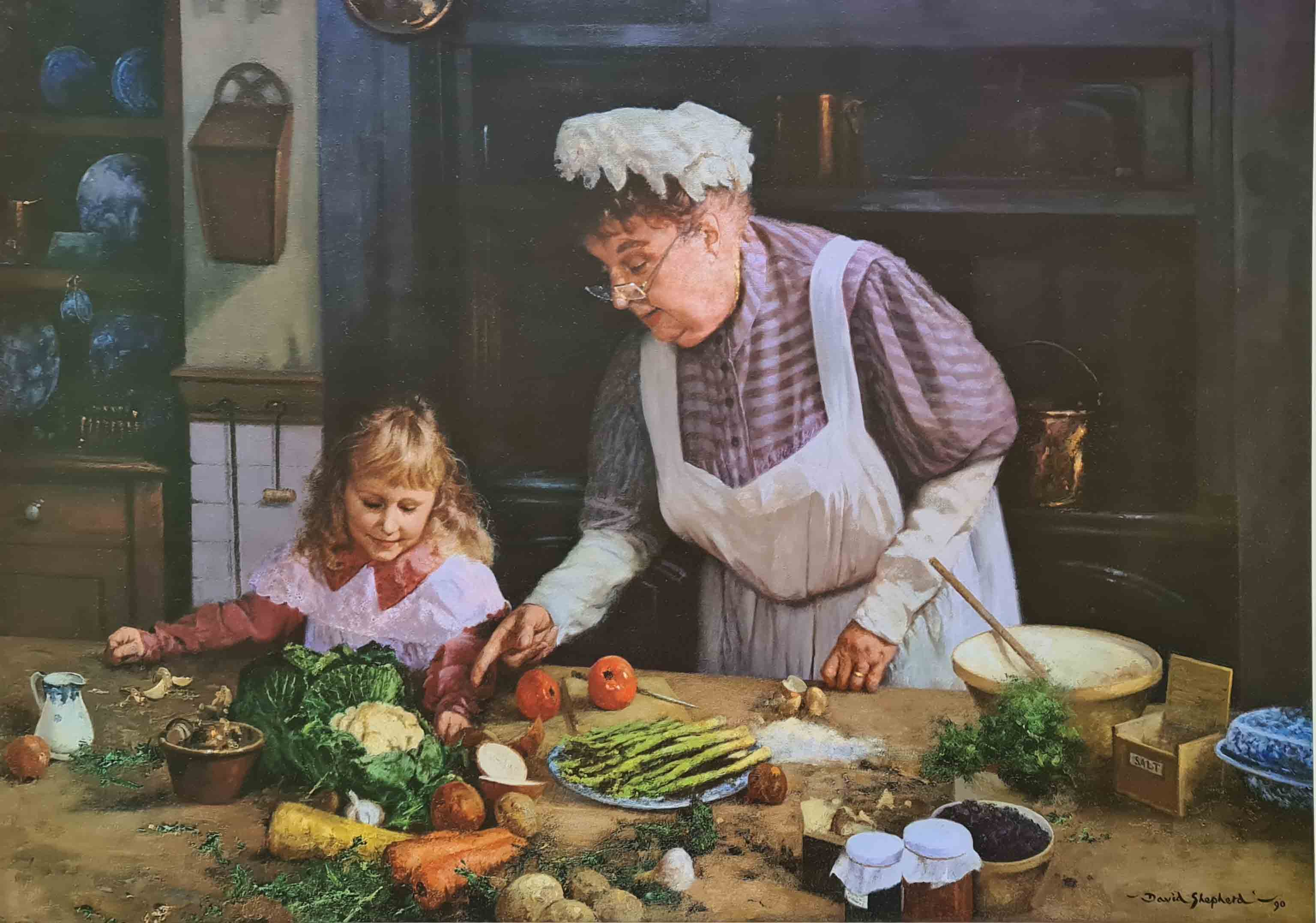 grannie's kitchen David Shepherd victorian scene print