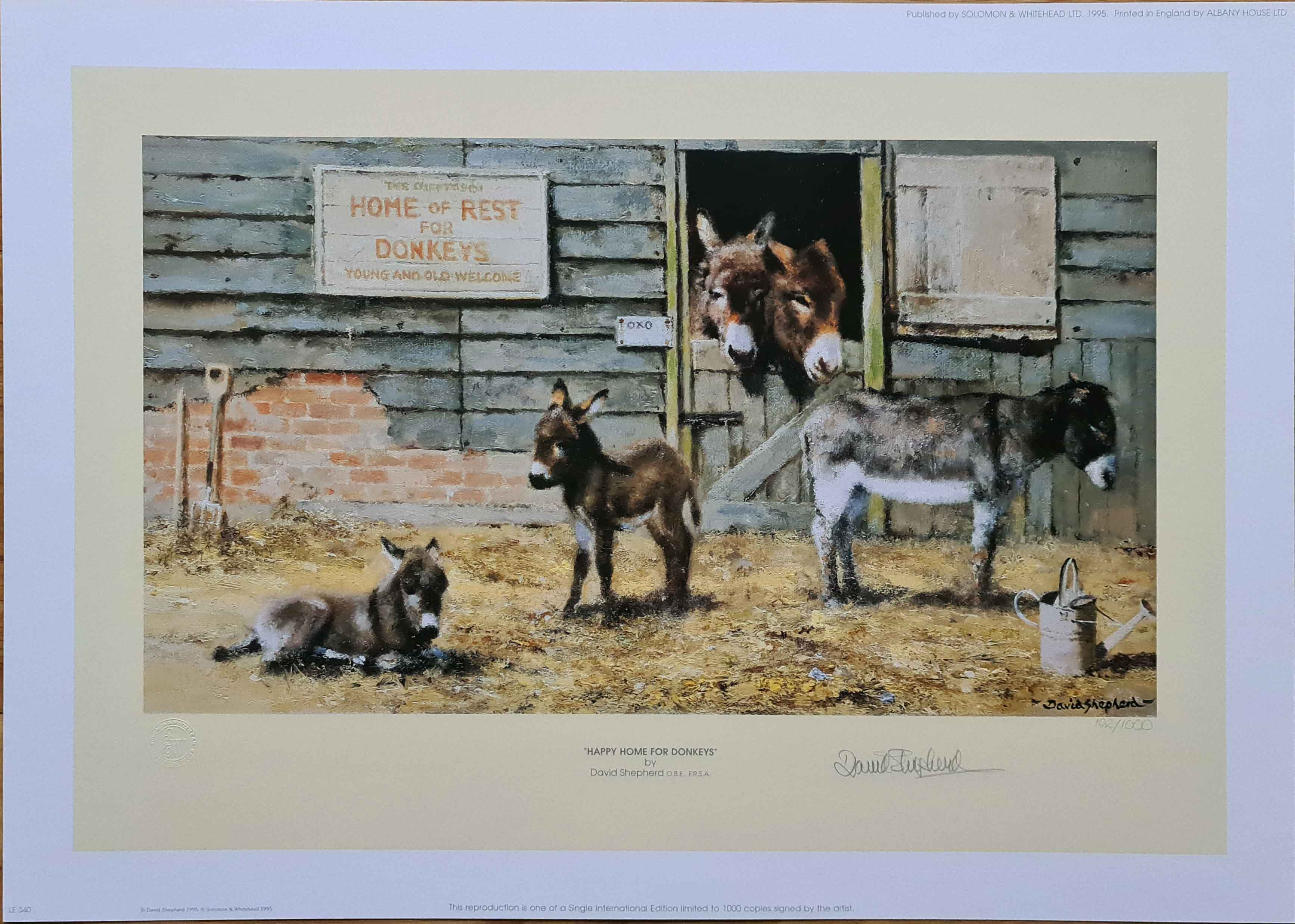 david shepherd happy home for donkeys