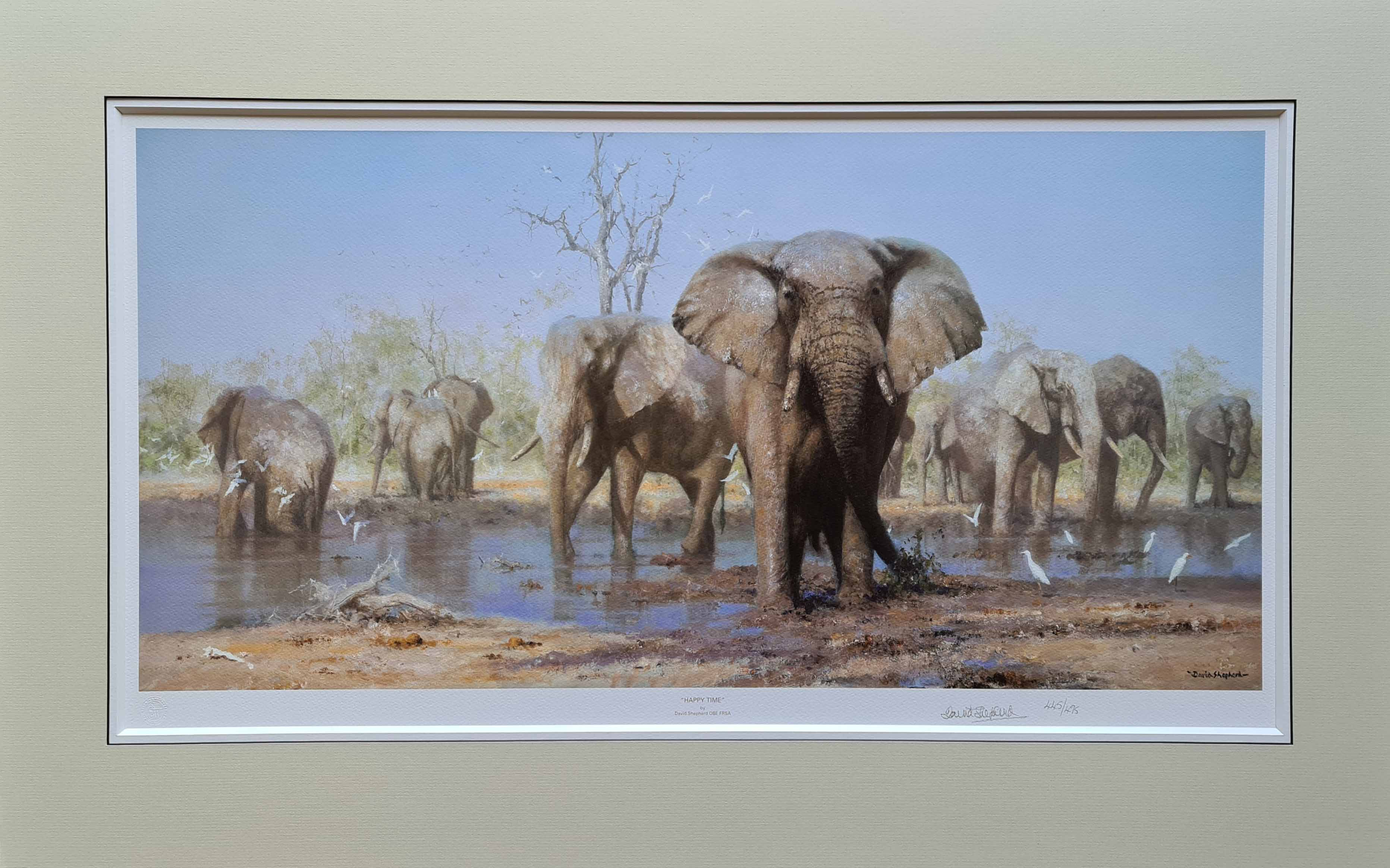 david shepherd, Happy Time, signed limited edition print mounted
