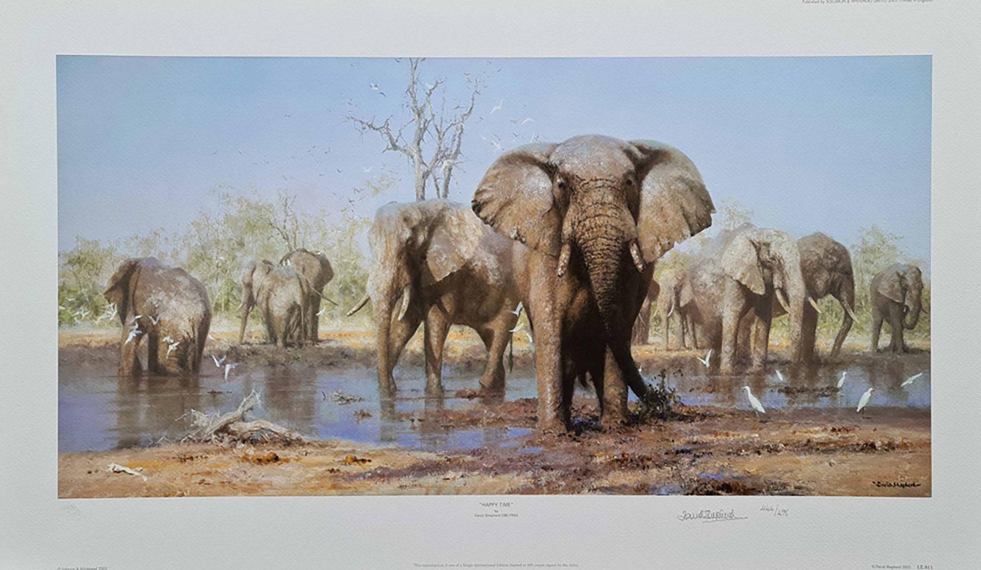 david shepherd, Happy Time, signed limited edition print