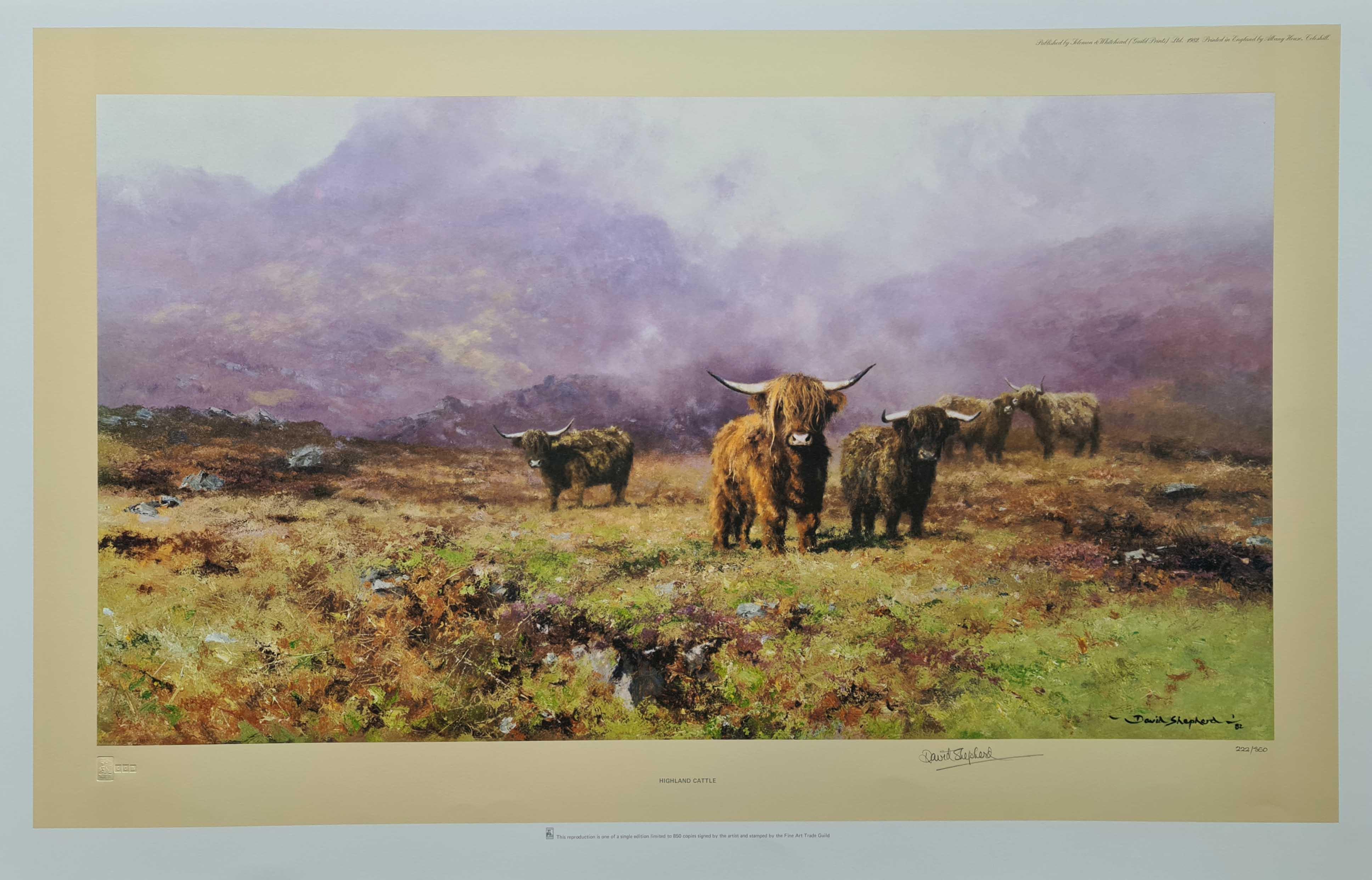 david shepherd, Highland Cattle, print