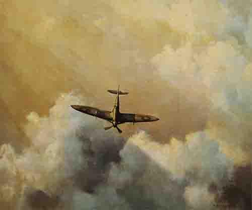 immortal hero spitfire David Shepherd aviation print