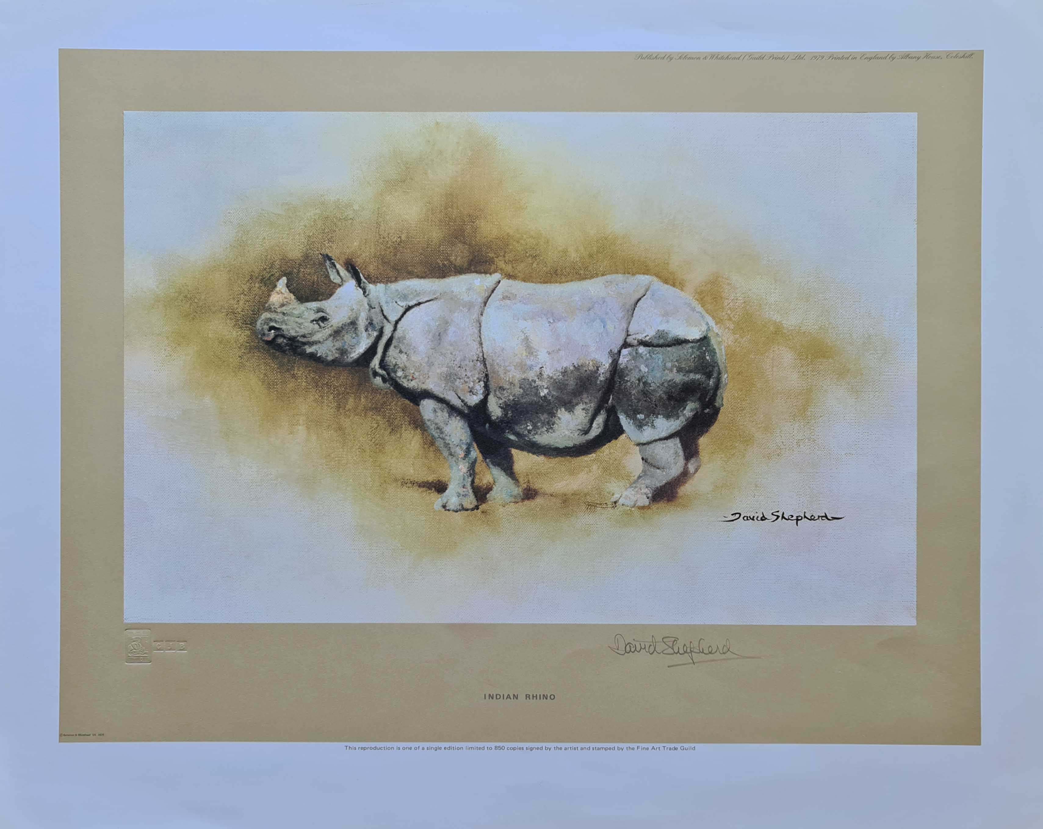 david shepherd indian rhino, rhinoceros