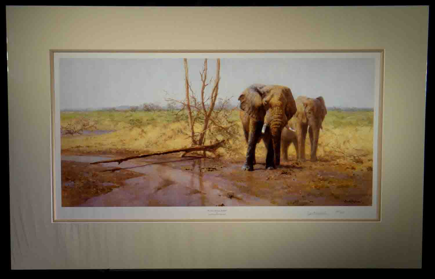 david shepherd, signed limited edition print, in the Msai Mara