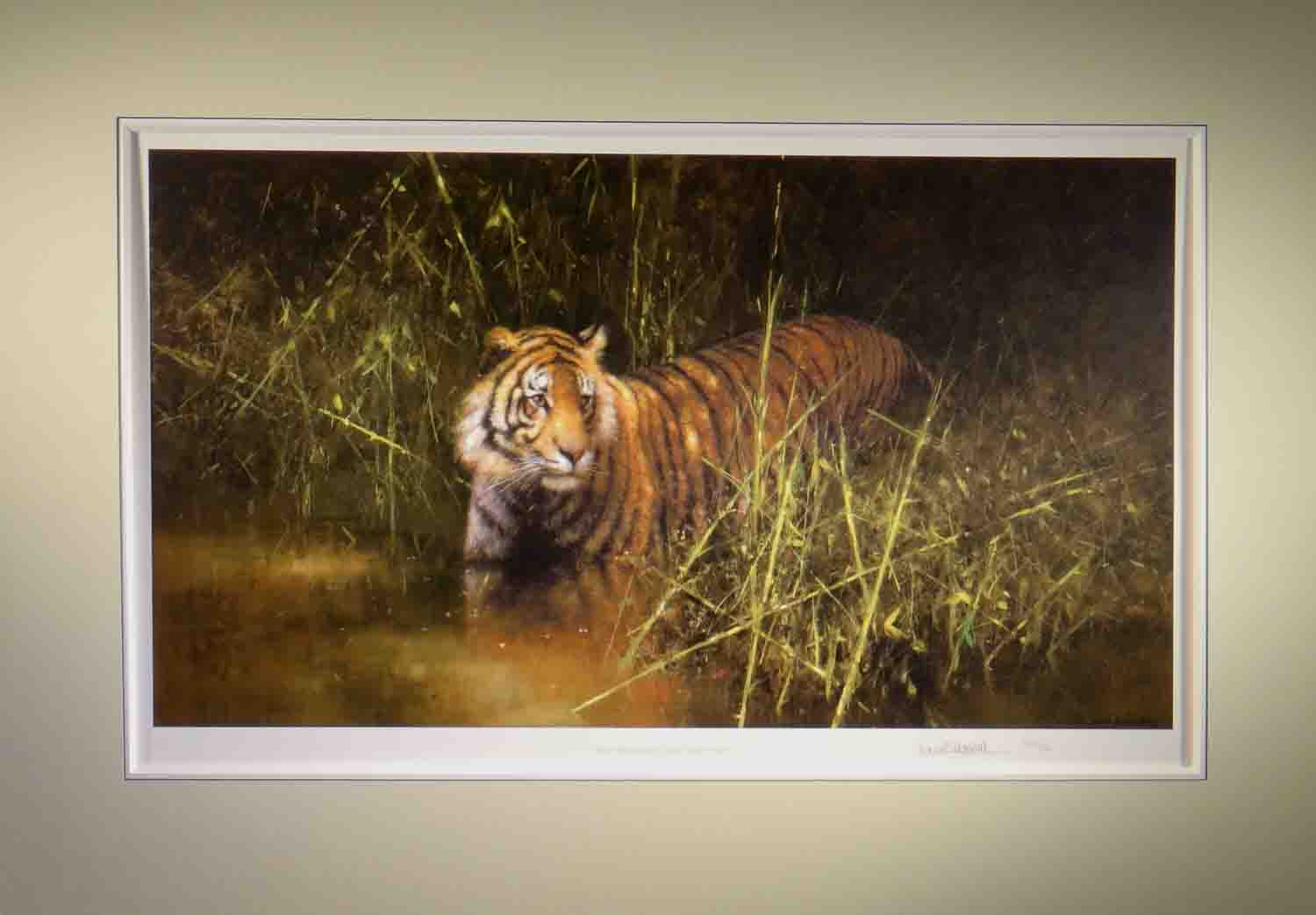 david shepherd, into the sunlight came a tiger, signed limited edition print