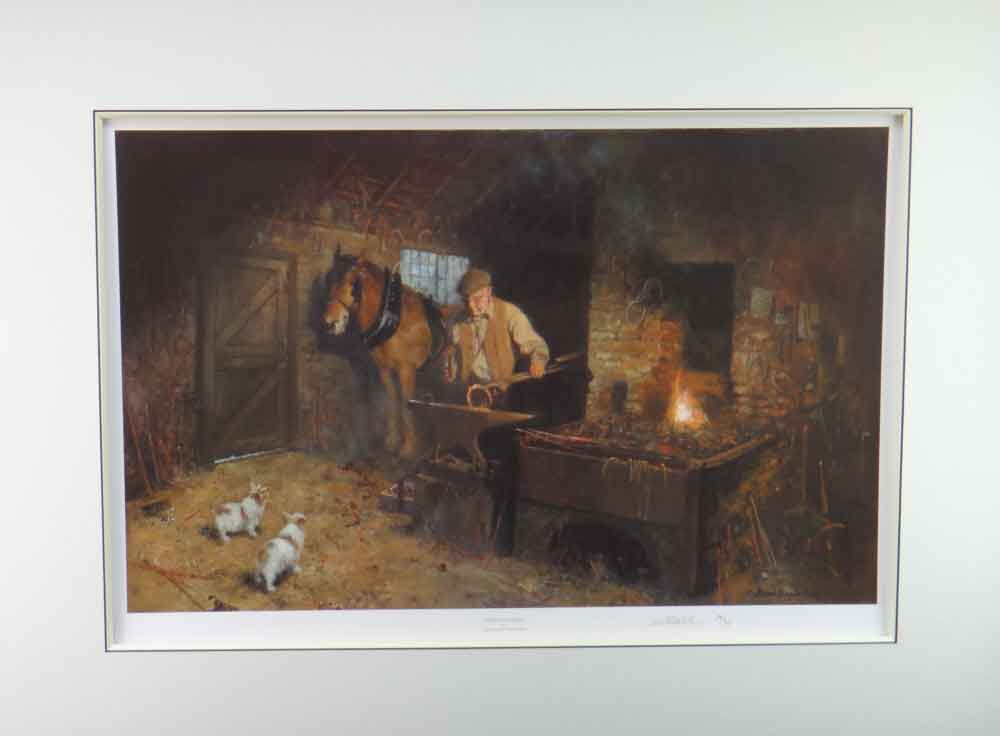 david shepherd  jimmy's forge mounted print