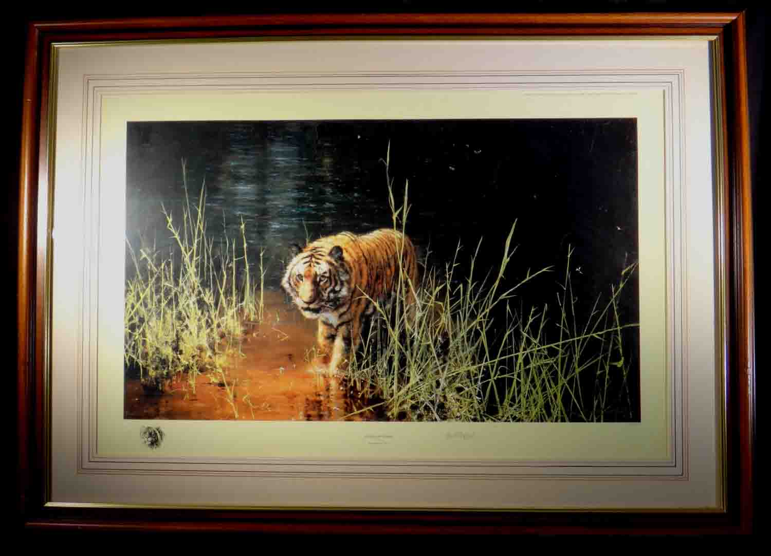 david shepherd, jungle gentleman, tiger, signed limited edition print