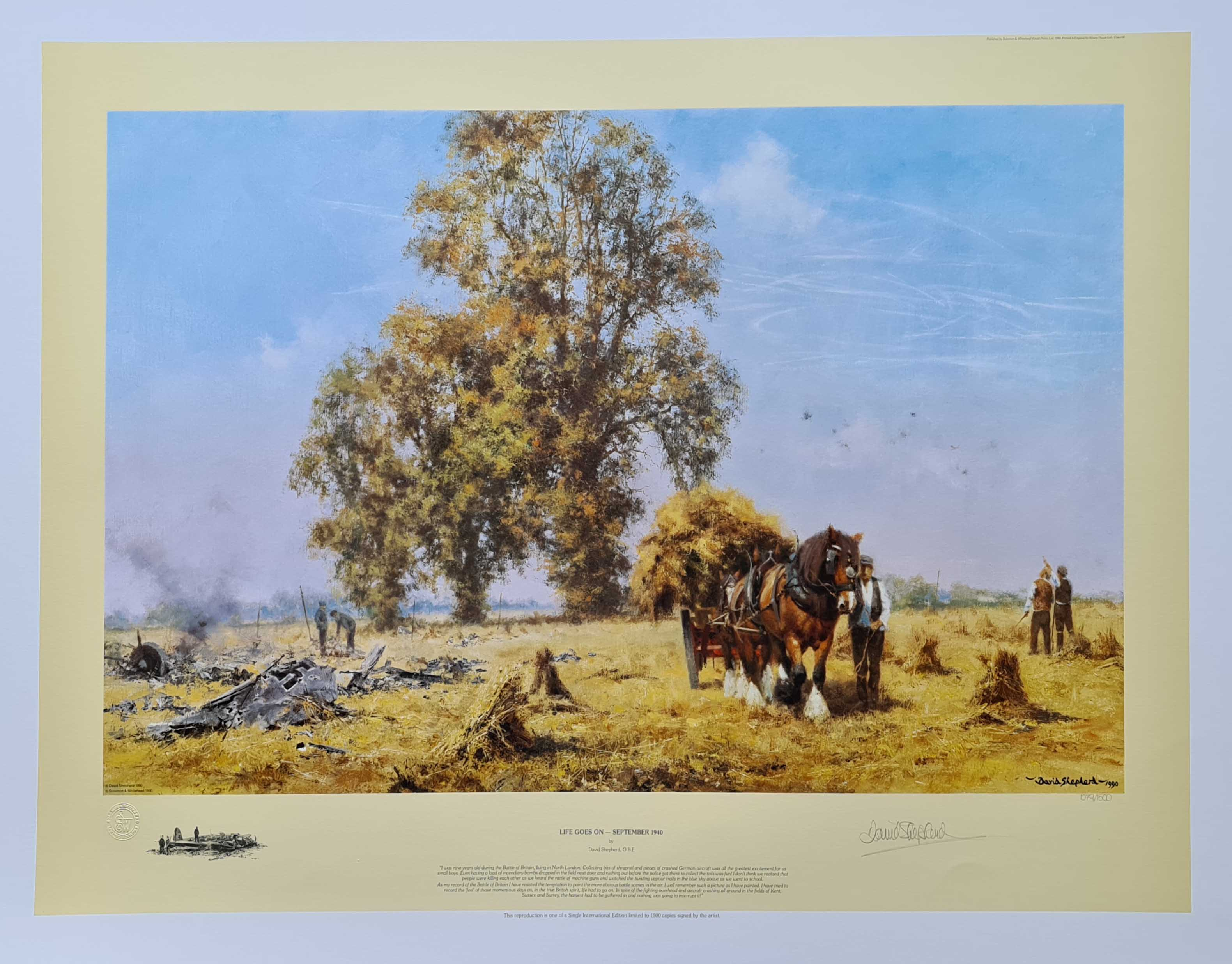 david shepherd, Life goes on, signed limited edition print