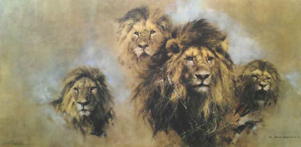 david shepherd lions prints
