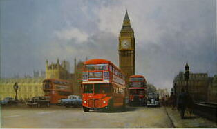 david shepherd  london bus print