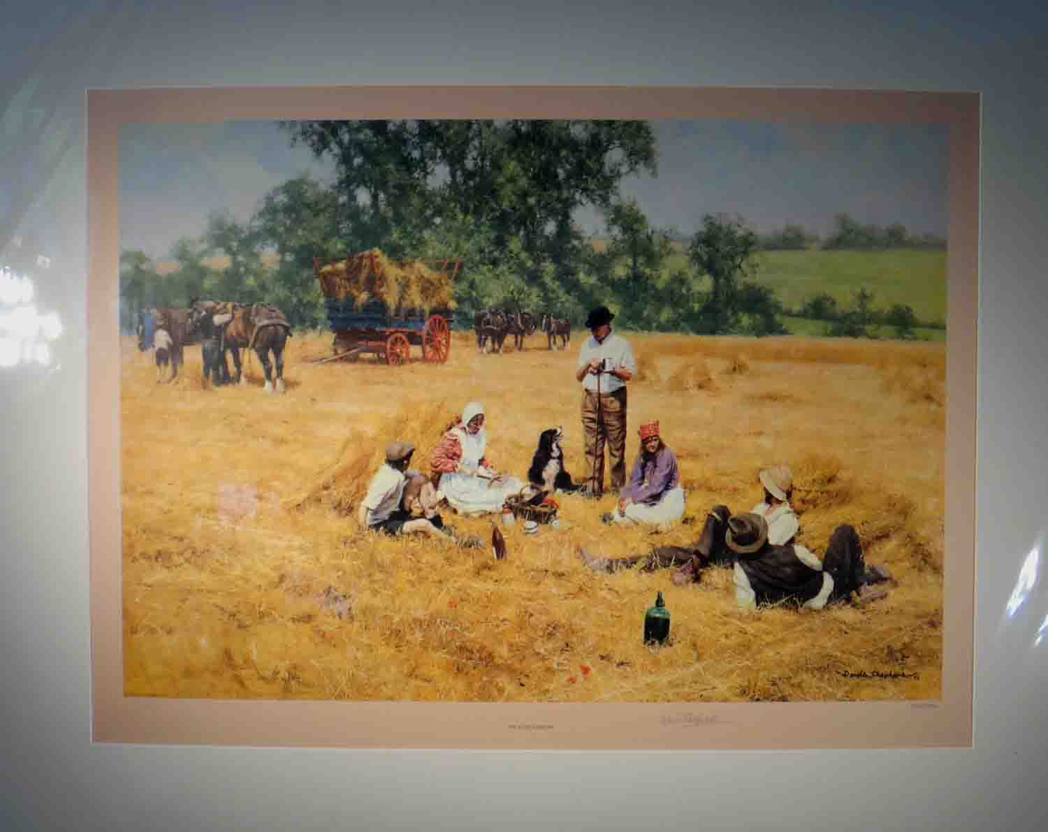 david shepherd, the lunch break, signed limited edition print