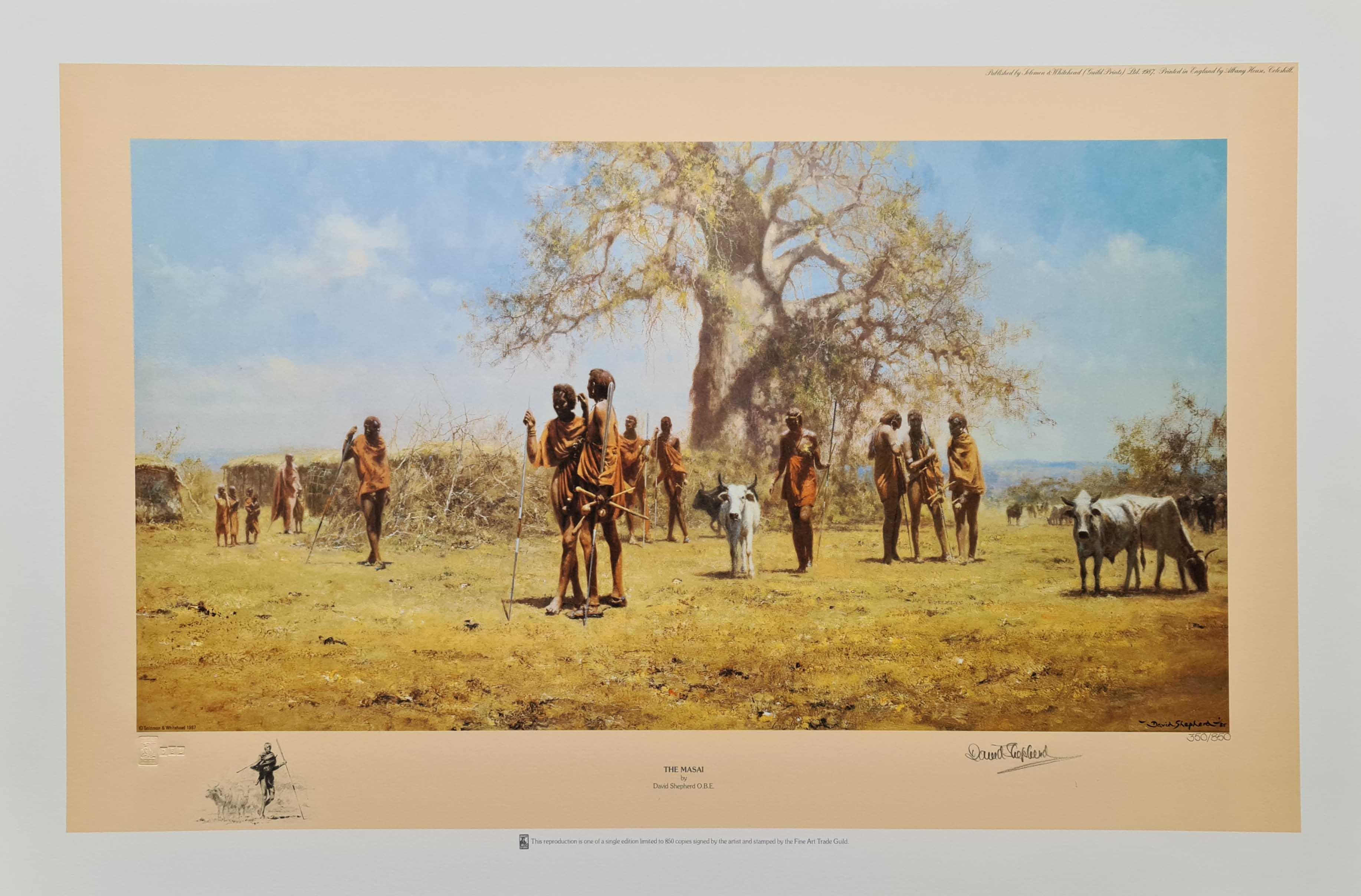 shepherd masai signed print