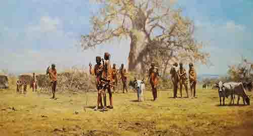 david shepherd Masai prints