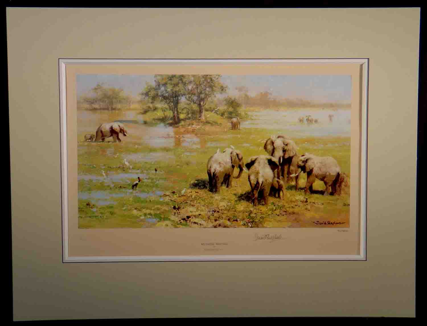 david shepherd, mother's meeting, signed limited edition print