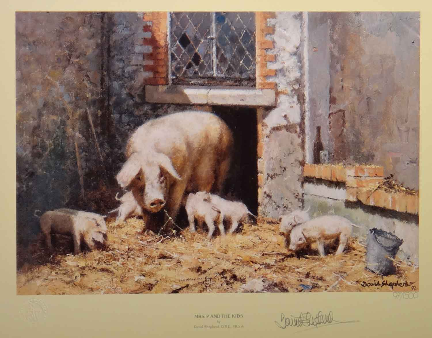 Pictures Of Pigs To Print. kids, pigs signed print