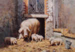 david shepherd lions pigs prints