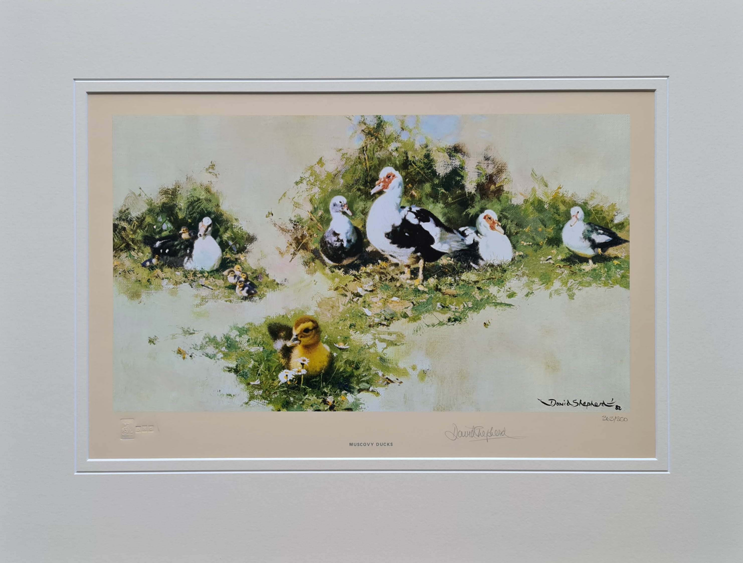 david shepherd muscovy ducks signed print