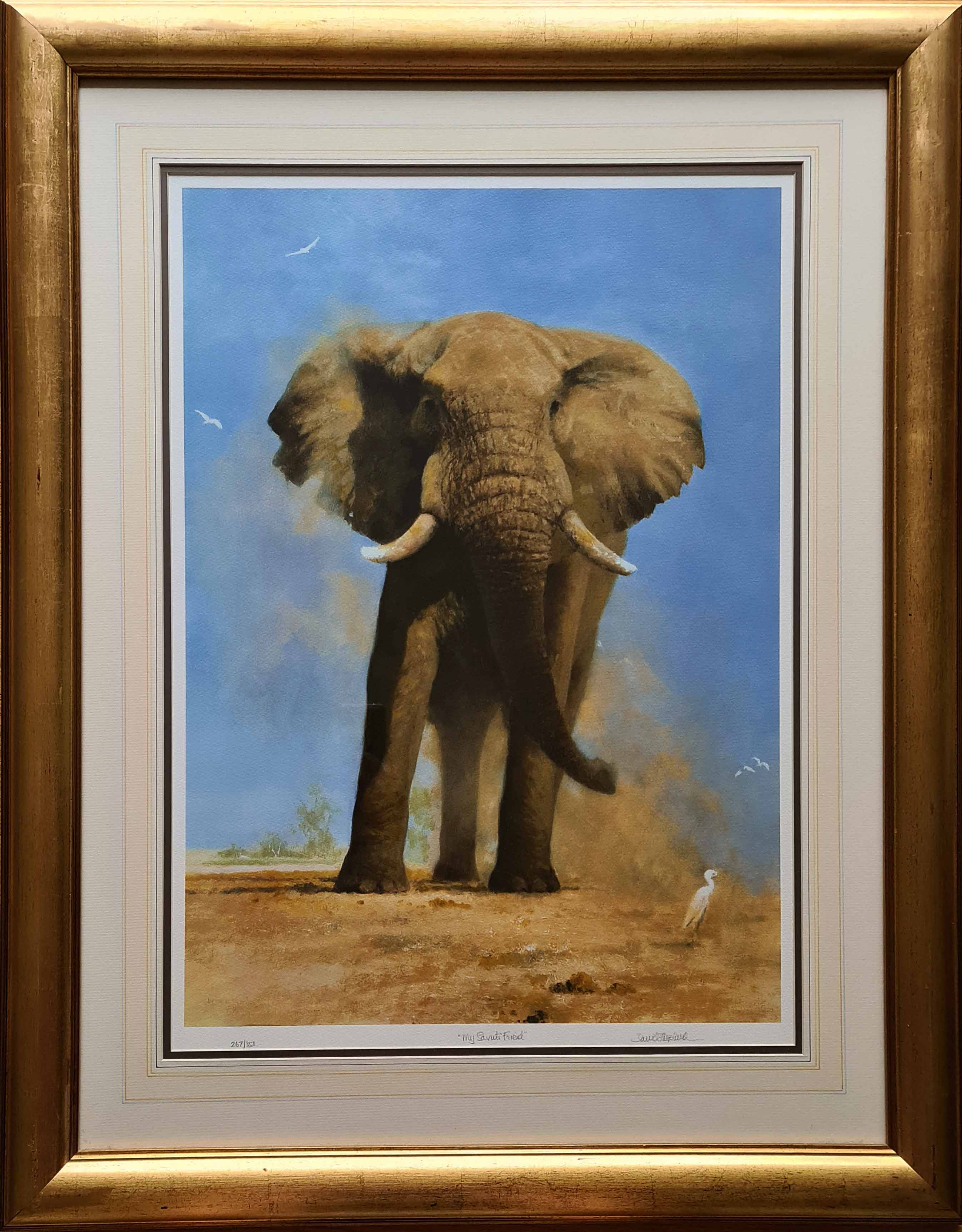 david shepherd  my Savuti friend silkscreen