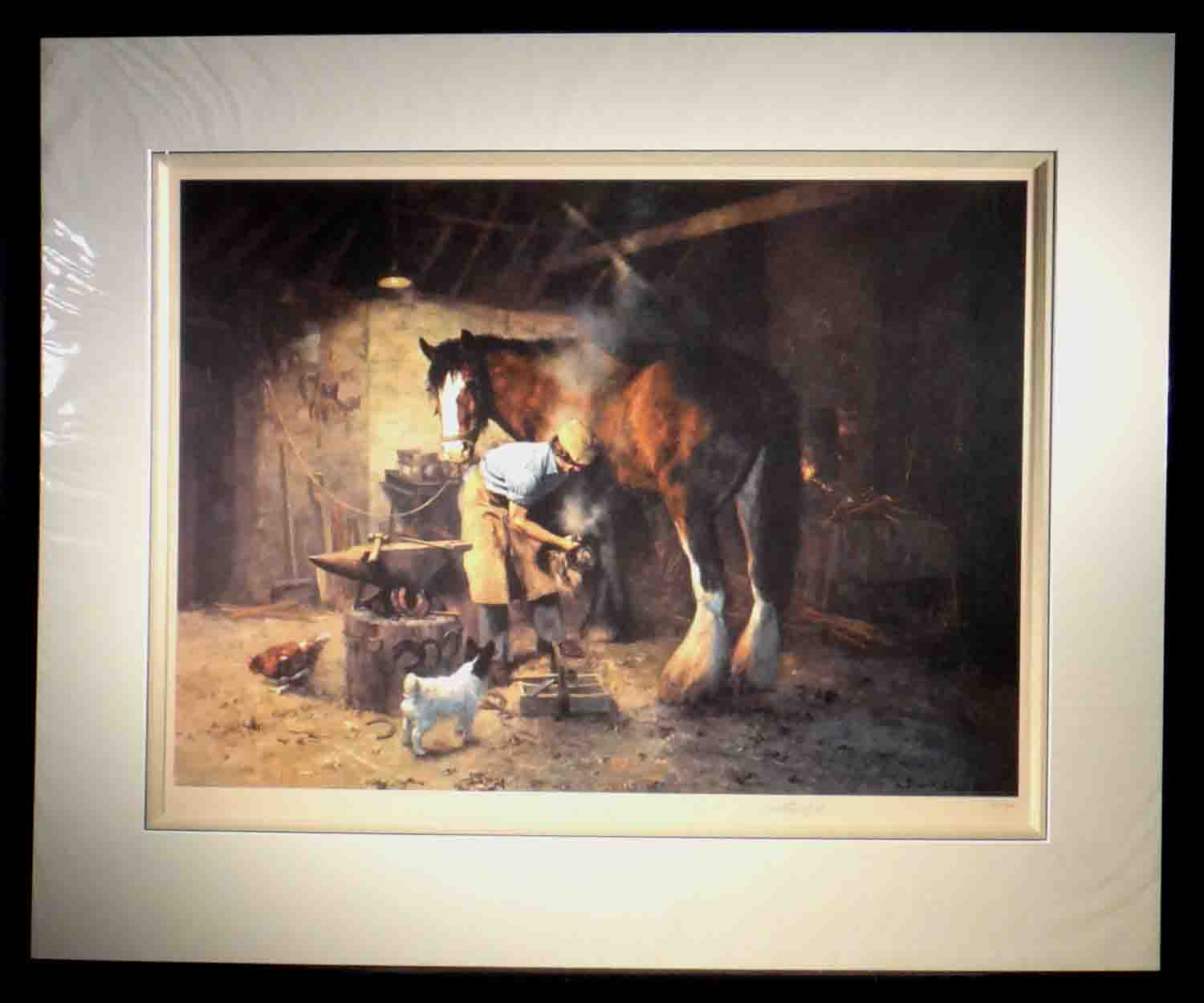 david shepherd, signed limited edition print, The Old Forge