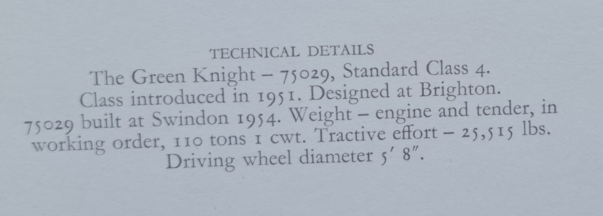 Green Knight technical details