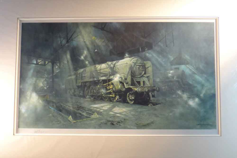 david shepherd,signed limited edition print, on shed