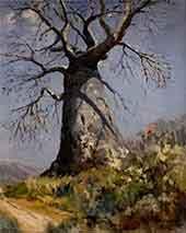 david shepherd, painting baobab, tree