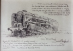david shepherd Black Prince, drawing, steam trains